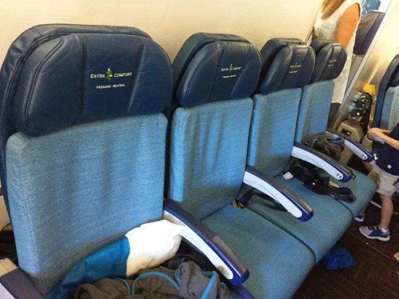 I didn't sit in Hawaiian's Extra Comfort (premium economy), but regardless, I was still comfortable in regular Economy on the A330.
