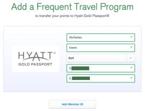 Ultimate Rewards add Hyatt