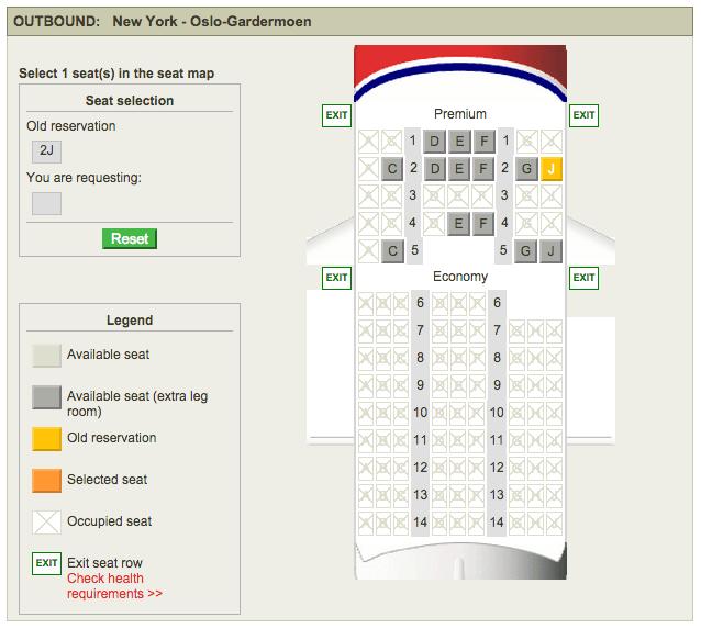 Norwegian has 32 recliner seats in Premium.