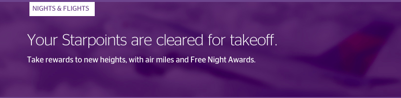 SPG Nights & Flights is one of the most popular uses of Starpoints.
