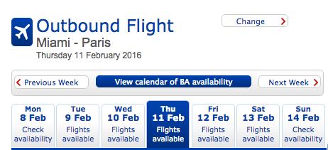 BA change date
