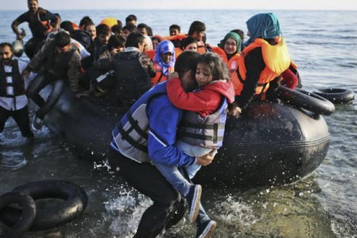 Syrian refugees arriving in Greece earlier this year. Photo courtesy of International Rescue Committee.
