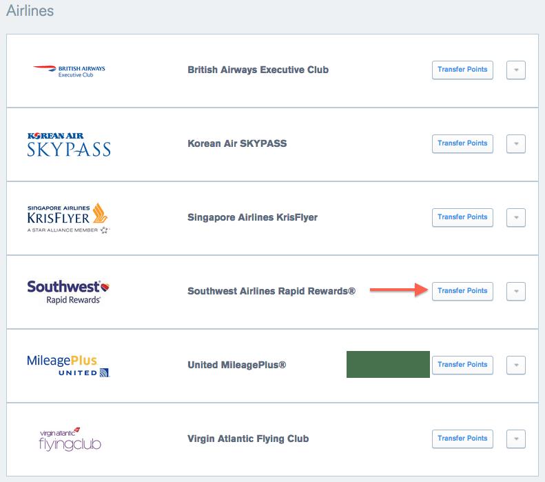 UR Airline Partners SW