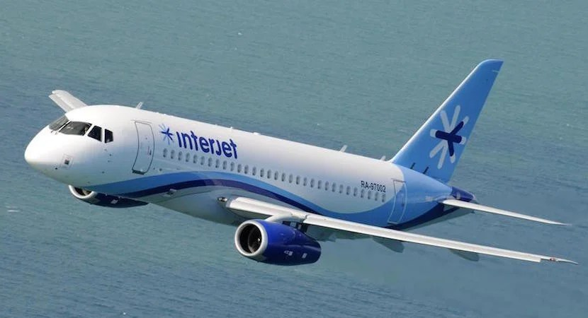 An Interjet SSJ100. Image courtesy of AINonline.