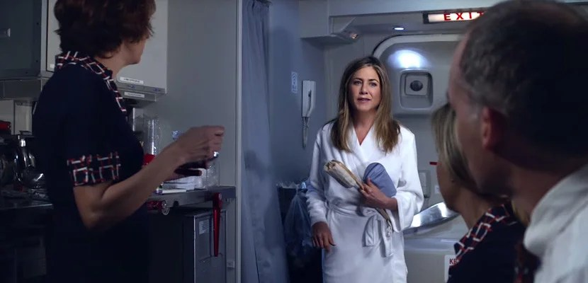 jennifer aniston emirates shower spa commercial