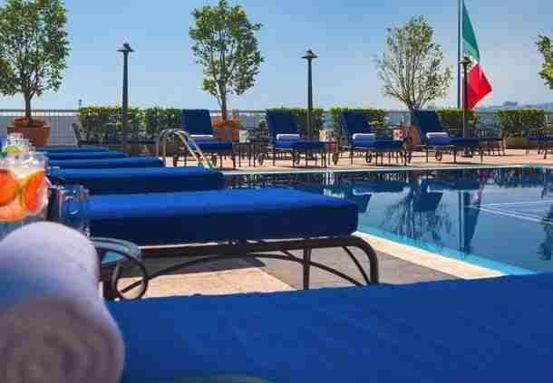 The pool at the JW Marriott Mexico City. Photo courtesy of the hotel.