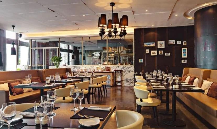 The Four Seasons Pavilion Japanese Restaurant at the Crowne Plaza Century Park Shanghai.