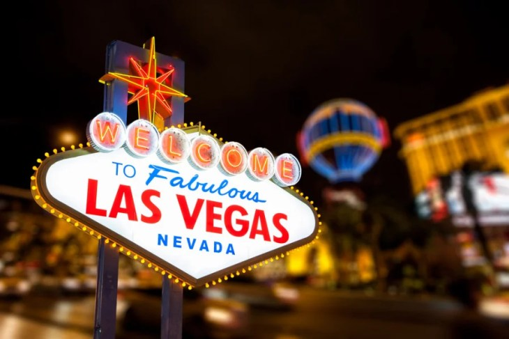 Lyft will now do pickups from the Las Vegas airport. Photo courtesy of Shutterstock.