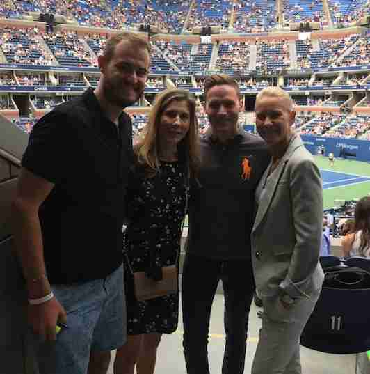 Just hanging out at the US Open with super-famous tennis players, no big deal.