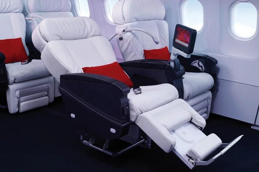 Virgin America's first class seats