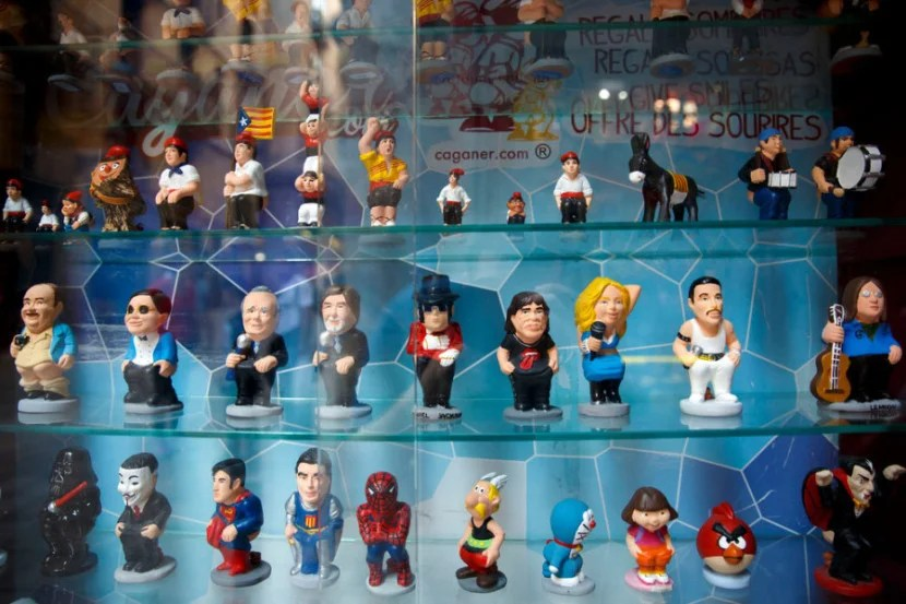 Need a small souvenir? Catalan Caganer figurines can be found in a variety of celebrity editions, including Michael Jackson.