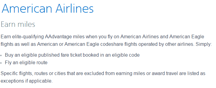 """The """"Earn Miles"""" section of the AA website is going to be a lot less """"simple"""" starting late 2016"""