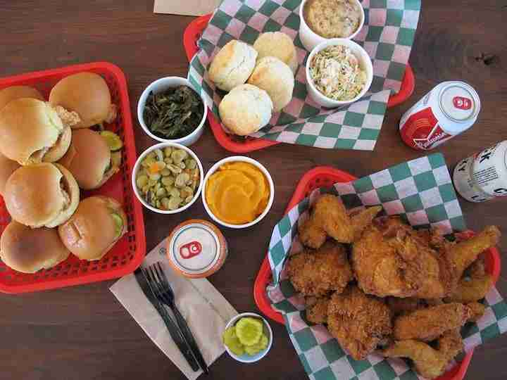 Fried chicken and sides prepared by James Beard award winner chef Robert Stehling. Photo courtesy of Chick