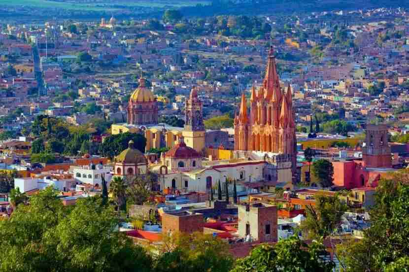 The spires and domes of San Miguel de Allende, Mexico. Photo courtesy of Wikipedia.