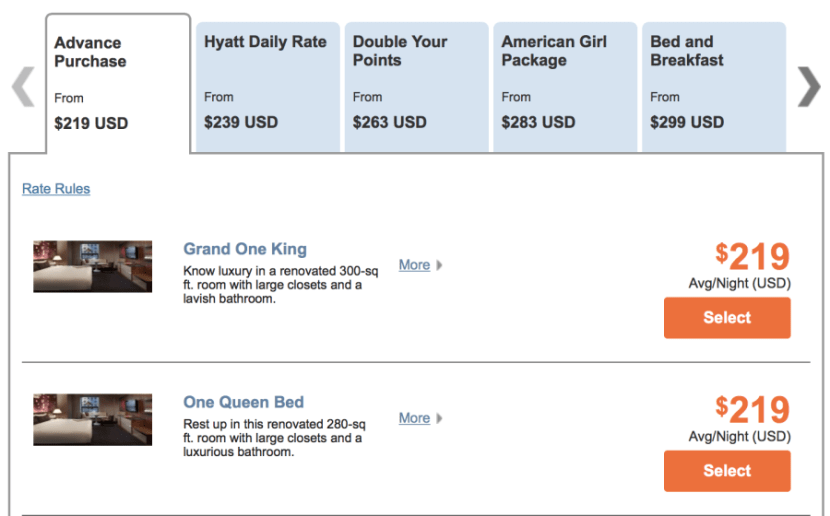 Grand Hyatt New York for $219 per night.
