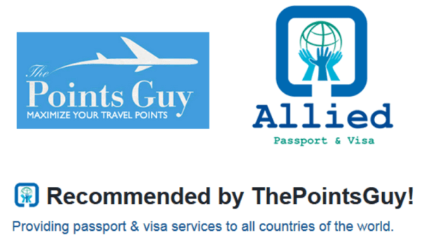 TPG highly recommends Allied Visa & Passport for any of your travel documentation needs.