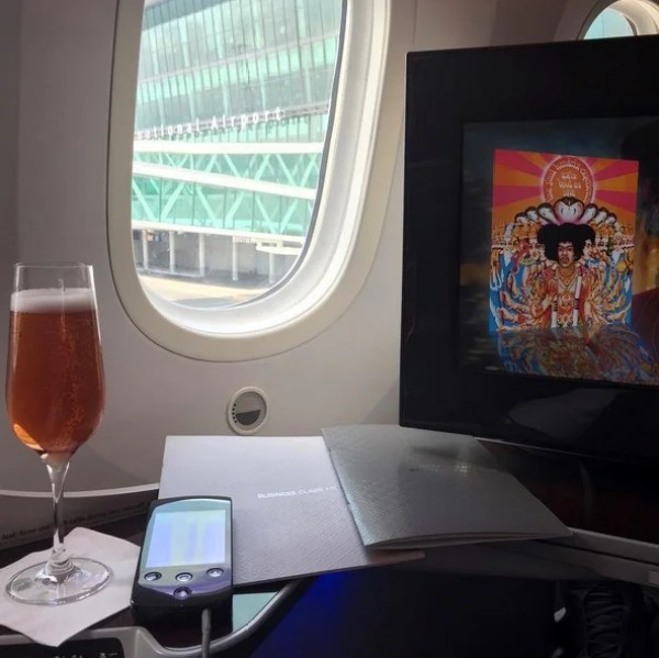 Tattinger rosé is a lovely way to start a flight.