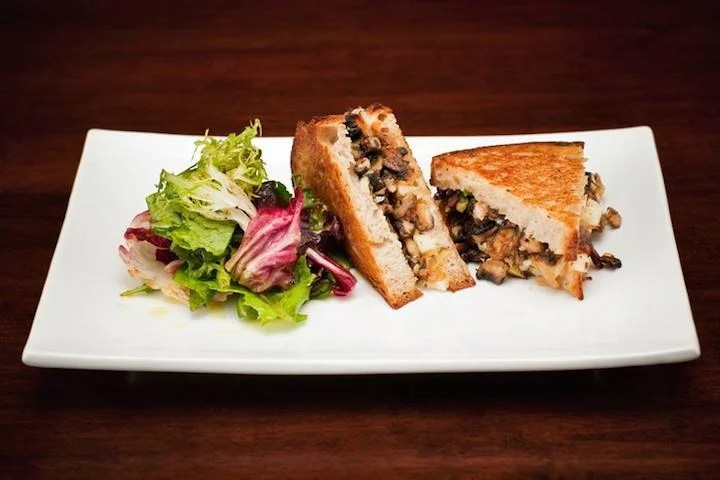 The chef at American Grilled Cheese Kitchen has won seven grilled cheesed championships. The Mushroom Gruyere is pictured here.
