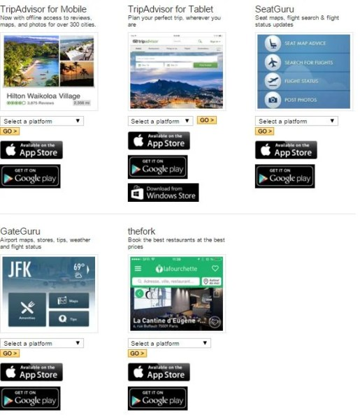 TripAdvisor also owns a variety of useful travel apps. Get them all!