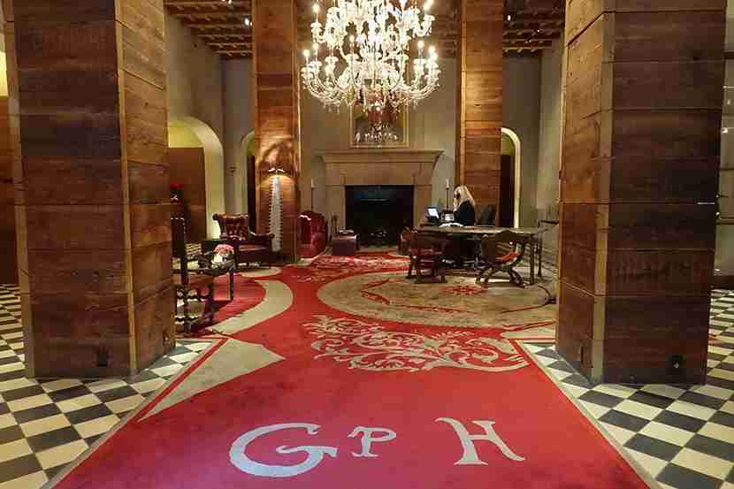 The Gramercy Park Hotel lobby.