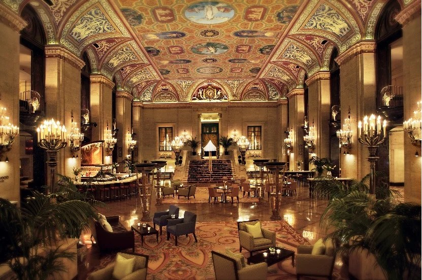 Earn Hilton Diamond status with credit card spend, good for perks at the Palmer House Hotel, which is now part of Hilton.