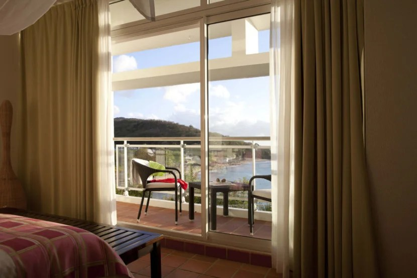 A room with a view at the Langley Resort Fort Royal in Guadeloupe.