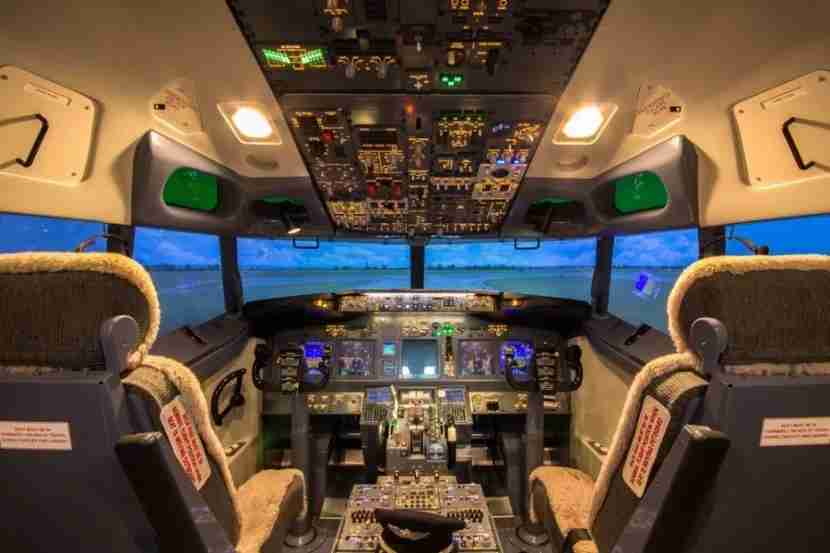 Inside the simulator. Photo courtesy of Shutterstock.