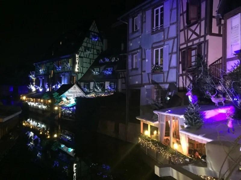 Colmar La Petite Venise at night