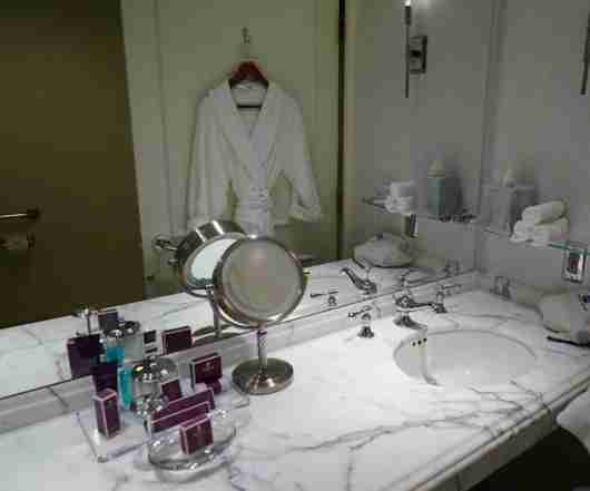 The bathroom featured products from Asprey.