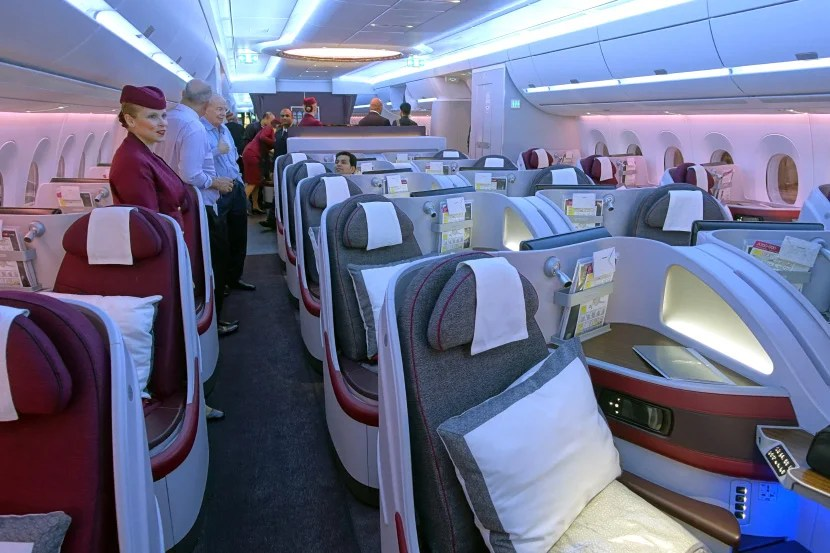 Business class on the Qatar A350.
