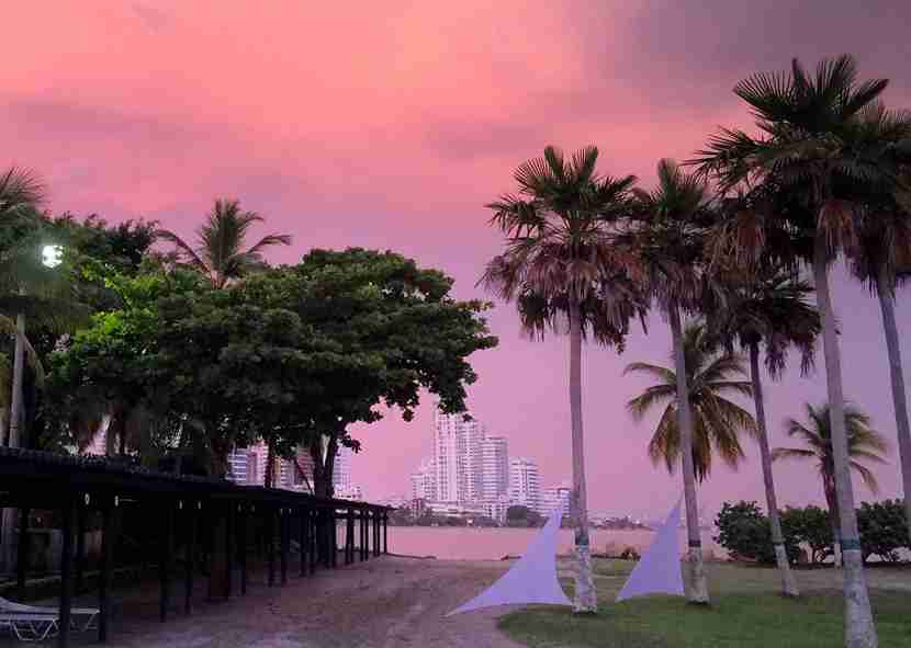 Sunset on the beach shouldn