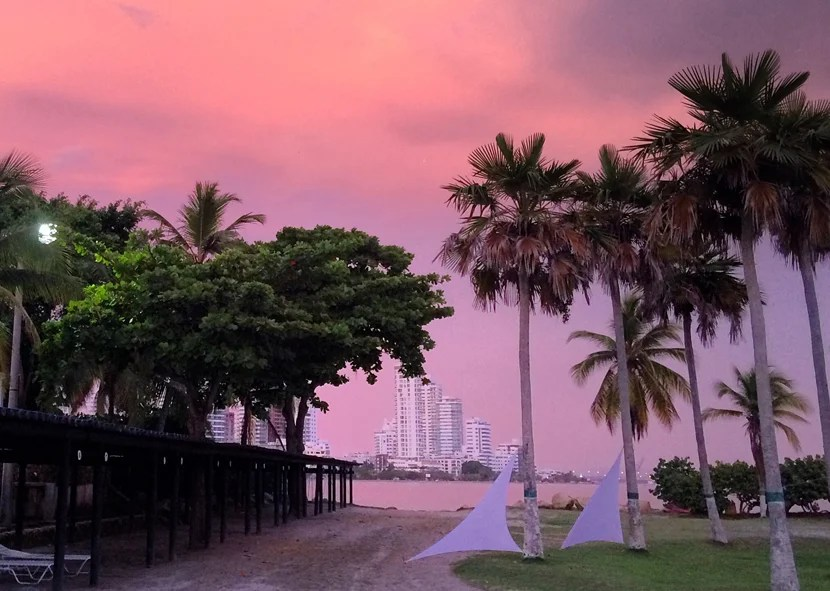 Sunset on the beach shouldn't be missed — unless you don't like color and romance.