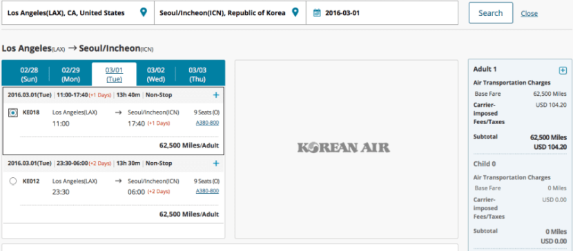 Korean Air LAX ICN