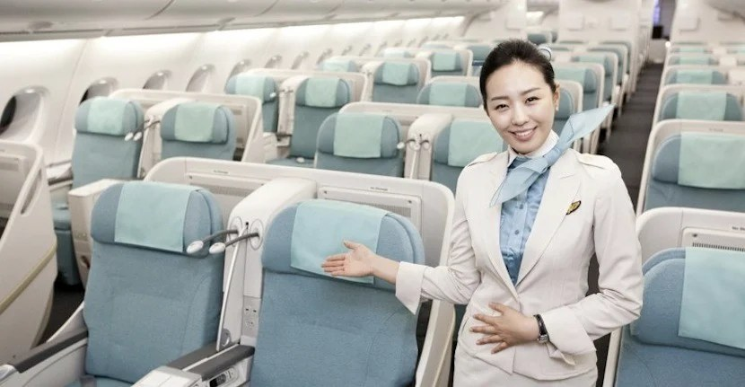 Korean Air's nicest business-class cabins are aboard its A380s. Photo courtesy of Korean Air.