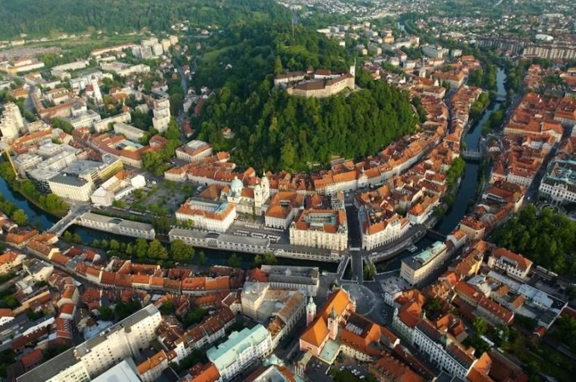The red roofs of Slovenia's charming capital, Ljubljana. Photo courtesy of Slovenia Tourism.