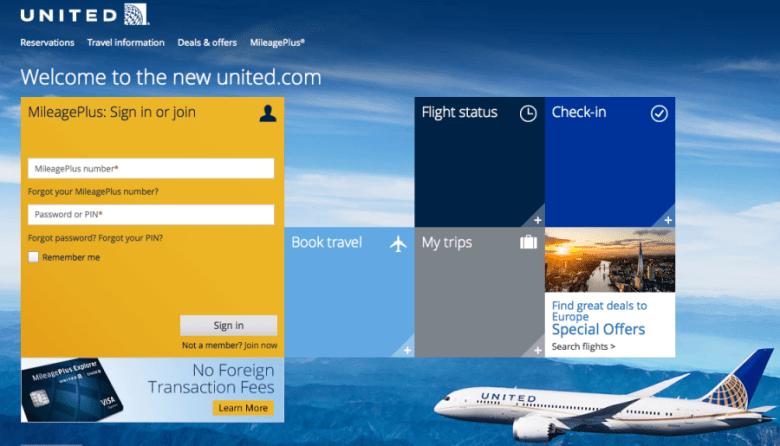 United home log in