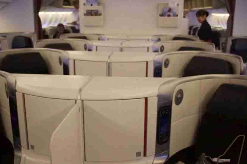 Business Class. My flight had no First Class cabin.