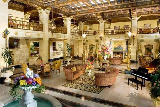 The Davenport's beautiful lobby.