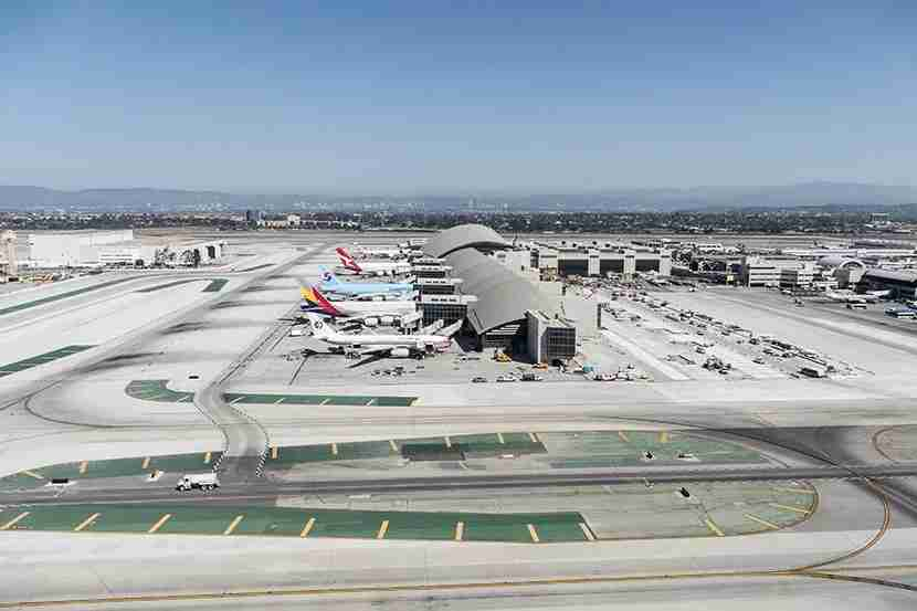 LAX, as seen from above. Image courtesy of Shutterstock.
