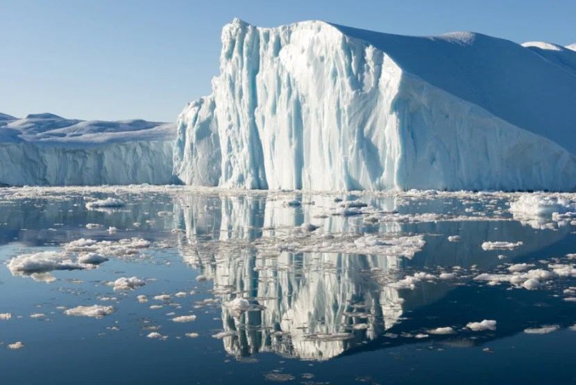 Float among the icebergs of Greenland's Disko Bay. Photo courtesy of Shutterstock.