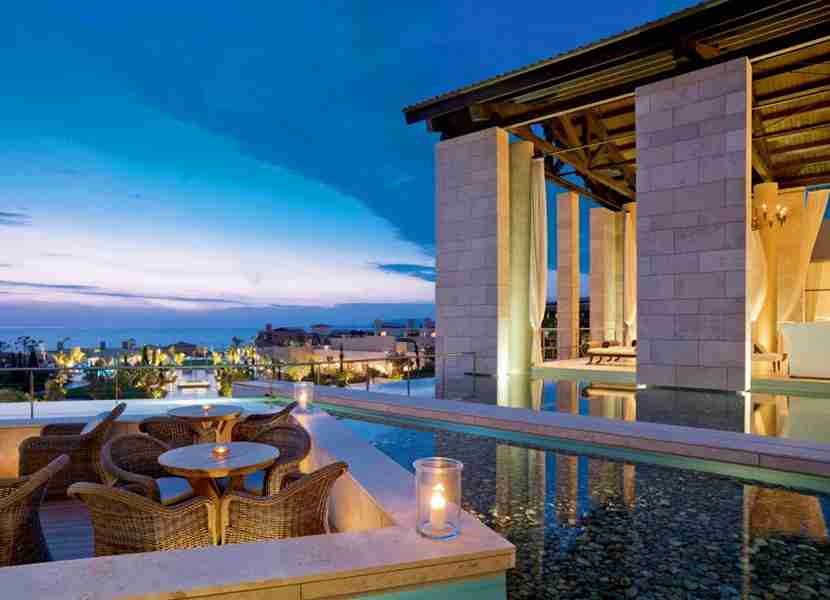 The Romanos, a Starwood Category 6 property, in Greece. Image courtesy of Starwood.