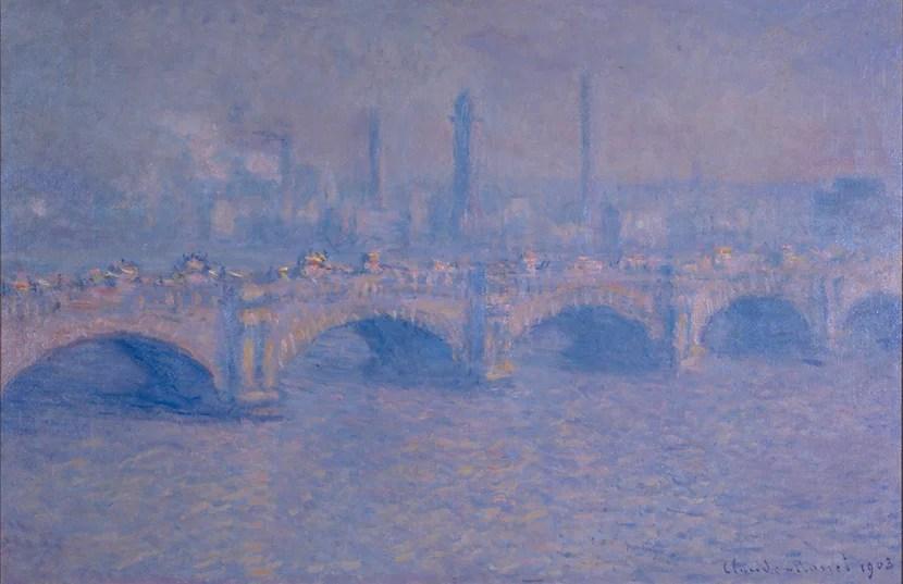 """Waterloo Bridge, Sunlight Effect,"" painted here in 1903 by Claude Monet."