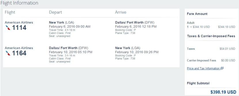See how many miles you can earn on this sample itinerary.