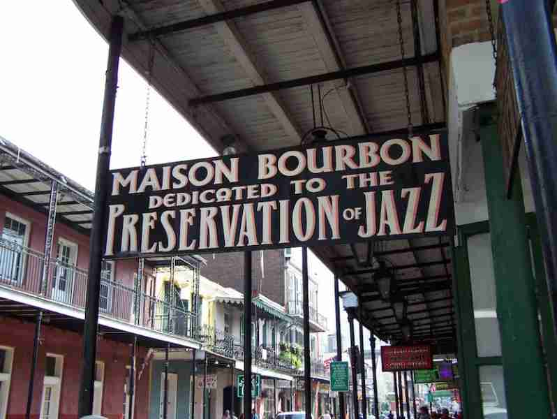 Live music fills the Quarter with music daily, from street performers to old-school venues like Maison Bourbon.