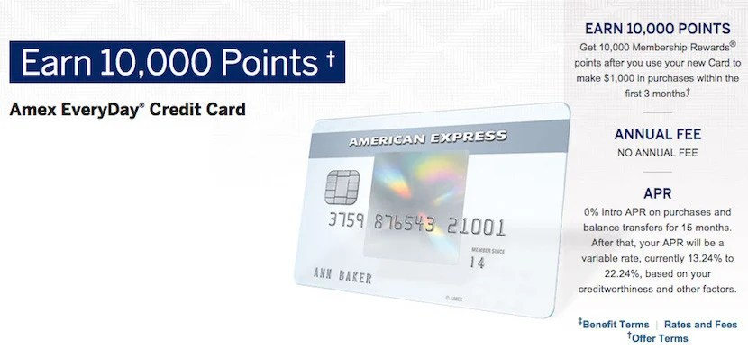 The Amex Everyday Credit card can earn 1.2 dollars on all spend and has a grocery store 2x bonus category.