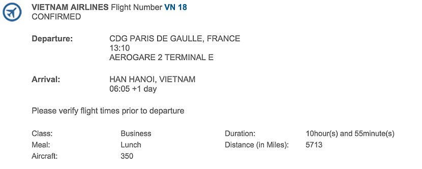 I was looking forward to my nearly 11-hour flight on board Vietnam Airlines