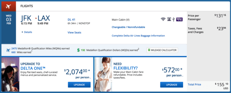 JFK to LAX in economy for $.