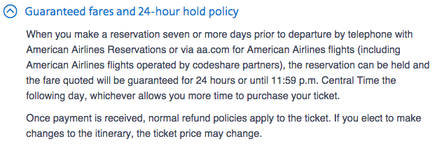 24-Hour Hold and Cancellation Policies: Delta, United
