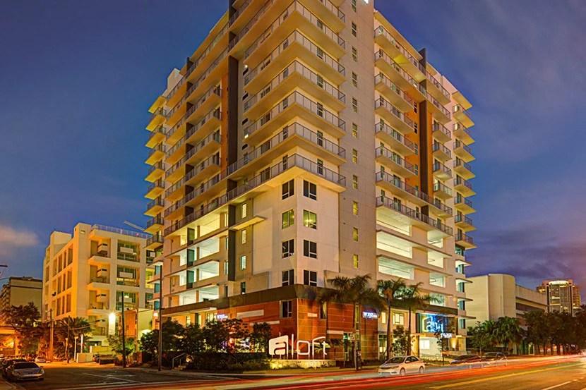 The Aloft Miami - Brickell. Image courtesy of the hotel.