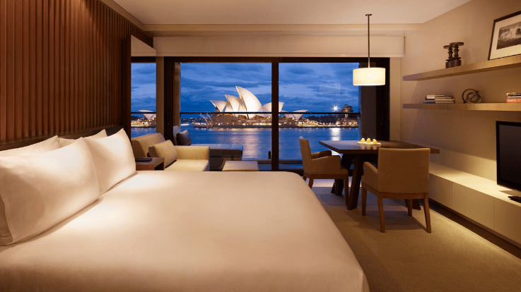 Opera Room at the Park Hyatt Sydney. Image courtesy of the hotel.
